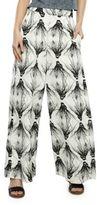 H Fredriksson Printed Wide-Legged Silk-Blend Pants