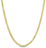 """Zales 14K Gold 1.0mm Gourmette Chain Necklace - 20"""""""