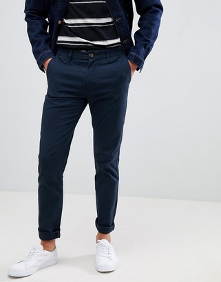 Burton Menswear skinny fit chinos in navy