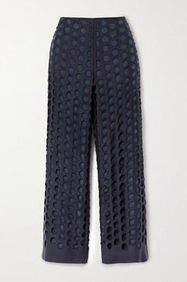 Maison Margiela Distressed Woven Pants - Navy