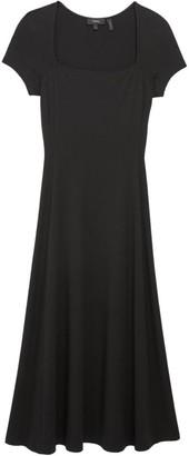 Theory Squareneck Midi Dress