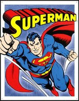 Poster Revolution Superman Cartoon Retro Vintage Tin Sign - 13x16