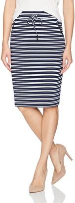 Tribal Women's Yacht Stripe Short Skirt