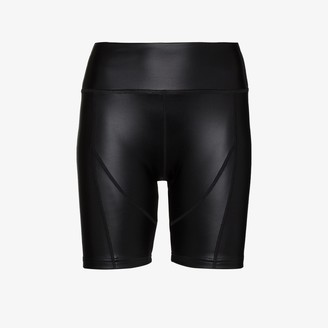 Danielle Guizio Faux Leather Cycling Shorts