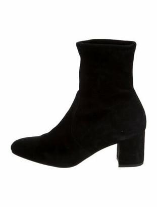 Stuart Weitzman Suede Sock Boots Black