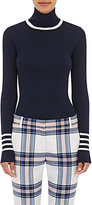 Tory Sport Women's Striped Wool Turtleneck Sweater