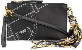 Versace Denim print clutch bag