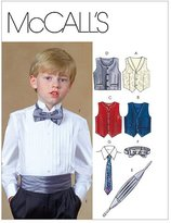 Mccall's M4290 Children's/Boys' Lined Vests, Cummerbund, Bow Tie and Necktie