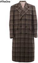 Thom Browne long checked overcoat - men - Cupro/Wool/Mohair/Nylon - 1
