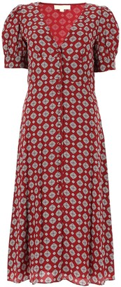 MICHAEL Michael Kors Floral Print Crepe Dress