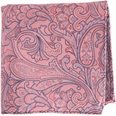 /Blue Paisley Silk Pocket Square by Knightsbridge Neckwear