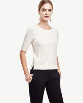 Ann Taylor Textured Dot Sweater