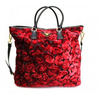 Prada \N Red Suede Handbags