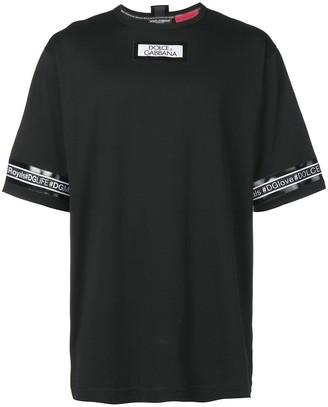 Dolce & Gabbana logo stripe T-shirt