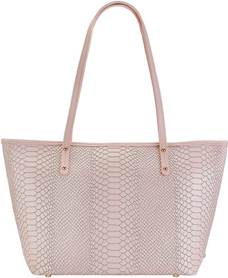GiGi New York Taylor Snake-Embossed Tote Bag