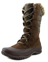The North Face Nuptse Purna Women Round Toe Suede Brown Winter Boot.