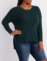 Charlotte Russe Plus Size Oversized Crew Neck Sweater