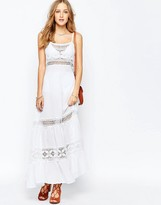 Gypsy 05 Crochet Spagetti Strap Maxi Dress