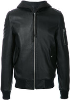 IRO zipped sleeve jacket - men - Lamb Nubuck Leather - L