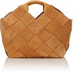 Loewe Women's Basket-Weave Small Tote-BROWN