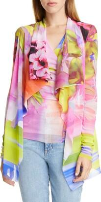 Fuzzi Floral Drape Jacket