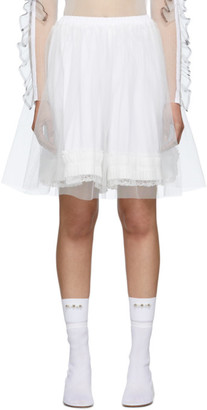 MM6 MAISON MARGIELA White Tulle Skirt