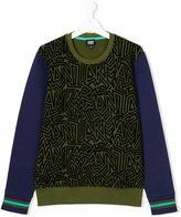 Armani Junior Teen abstract print sweatshirt