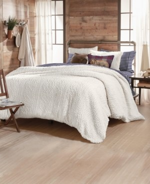 G.H. Bass & Co. G.h. Bass Cable Knit Sherpa King Comforter Set