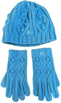 Burberry Blue Wool Hats