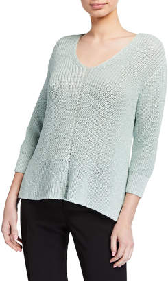 Vince Camuto 3/4-Sleeve Speckled Sweater