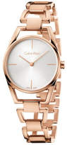 Calvin Klein Dainty Lady Polished And Brushed Rose Gold Pvd Bracelet