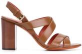 Santoni cross-strap block-heel sandals