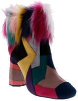 Penny Loves Kenny Women's Khola Patchwork Faux Fur Bootie