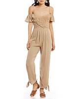 Free People In the Moment Off-the-Shoulder Jumpsuit