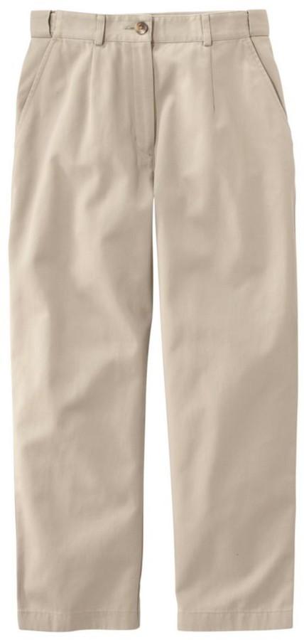 L.L. Bean L.L.Bean Women's Wrinkle-Free Bayside Pants, Cropped Original Fit Hidden Comfort Waist