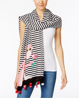 Kate Spade Monkey Rose Wrap & Scarf in One