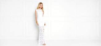 Rachel Zoe Estelle Open-Back Lace Gown