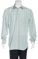 Kiton Plaid Woven Shirt