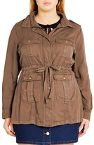 City Chic Plus Size Women's 'Adventure' Utility Jacket