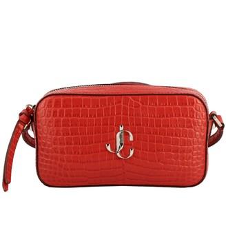 Jimmy Choo Hale Shoulder Bag In Crocodile Print Leather