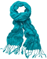Metallic-Stitch Fringe Scarf