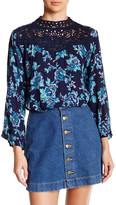 Angie Mock Neck Victorian Blouse