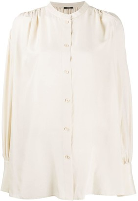 Joseph Draped Silk Blouse
