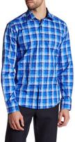 Bugatchi Pixelated Shaped Fit Woven Shirt