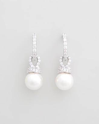 Swarovski Originally Drop Pearl and Silver Earrings