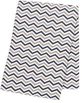 Trend Lab Navy and Gray Chevron Deluxe Flannel Swaddle Blanket by