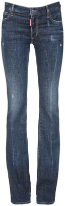 DSQUARED2 Flared Stretch Cotton Denim Jeans