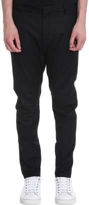 Lanvin Biker Pant Roun Pants In Black Cotton