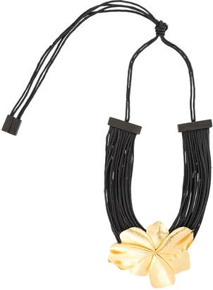 Josie Natori Metal Floral necklace