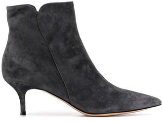 Gianvito Rossi Kitten Heel Ankle Boots